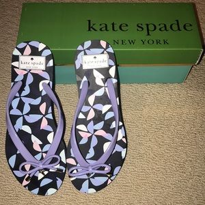 ♠️Kate Spade♠️ purple charm flip flops 7 NEW
